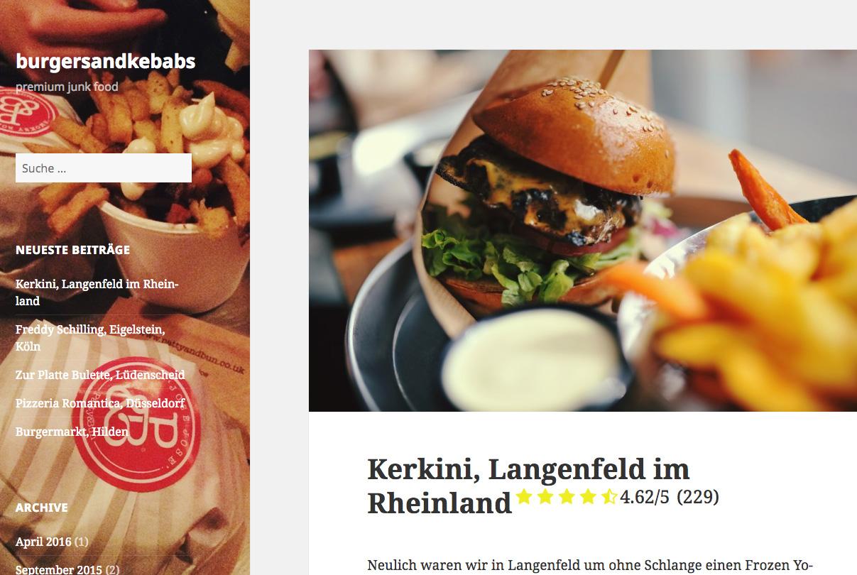 Burgersandkebabs bei Kerkini Langenfeld