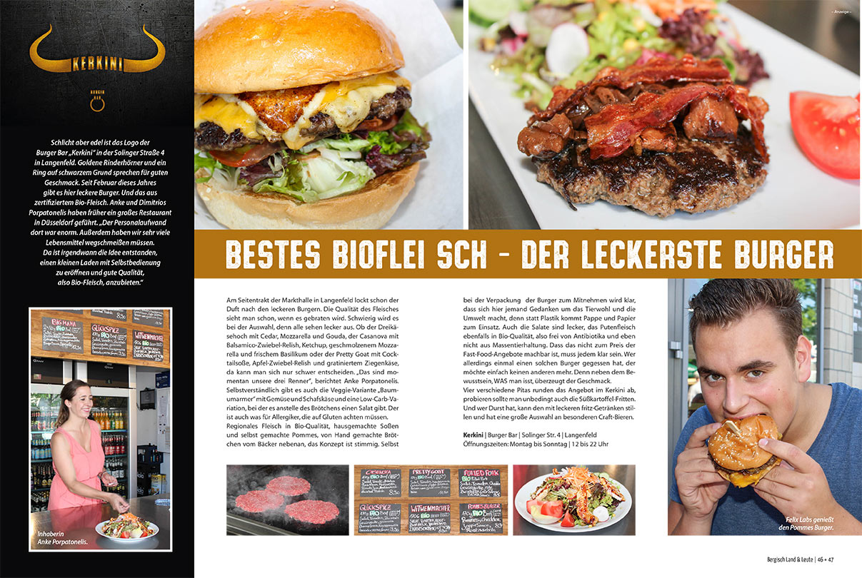 Kerkini Burger Bar in der Presse